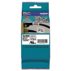 ** Flexible Tape Cartridge For P-Touch Labelers, 1-1/2In X 26.2Ft, Black On White