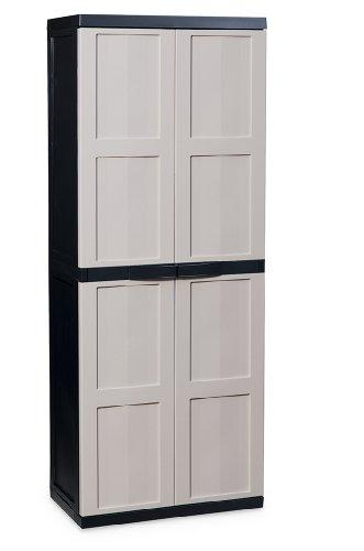 Toomax Z214R150 Art. 214 Eco Line S Armoire pour Range Balais Black Edition/Taupe 65 x 37 x 165 cm