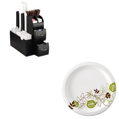 KITDXEUX9WSPKEMSCAD01BLK - Value Kit - Ems Mind Reader Llc Coffee Organizer (EMSCAD01BLK) and Dixie Pathways Mediumweight Paper Plates (DXEUX9WSPK)