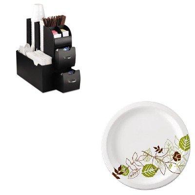 KITDXEUX9WSPKEMSCAD01BLK - Value Kit - Ems Mind Reader Llc Coffee Organizer (EMSCAD01BLK) and Dixie Pathways Mediumweight Paper Plates (DXEUX9WSPK)