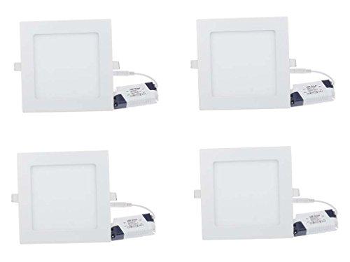 Champion 12w Square LED Ceiling Panel light -Pack of 4pcs