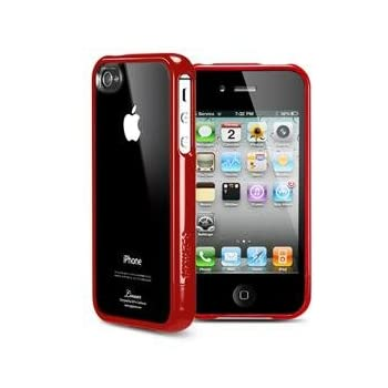 SGP アイフォン 4 / 4S ケース Linear クリスタルシリーズ 【 ダンテ・レッド 】液晶保護シートセット for Apple iPhone 4 / 4S 【 SGP07532 】