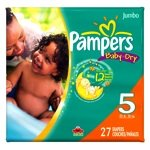 Pampers Baby Dry Diapers, Size 5, 27 Count