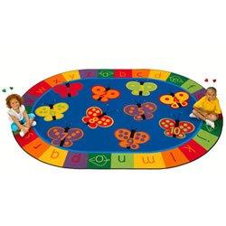 123 ABC Butterfly Fun Oval Rug 7'8'' x 10'10''