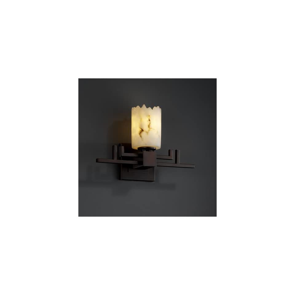 Justice Design Group FAL 8701 12 DBRZ Lumenaria 1 Light