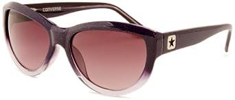 Converse Women's Wavelength Cateye Sunglasses, Purple Glitter