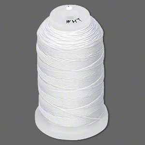 Simply Silk Beading Thick Thread Size C White 0.0108 Inch 0.27mm Spool 310 Yards