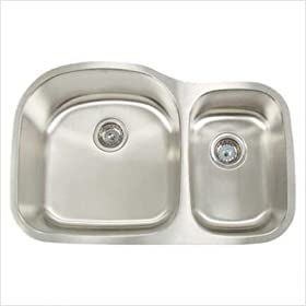 Artisan AR3220-D9/7 Premium Series Stainless Steel Undermount Double Bowl Kitchen Sink