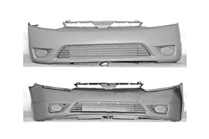 PAINTED FRONT BUMPER COVER HONDA CIVIC 06-08 COUPE 2.0L - Rallye Red - R-513