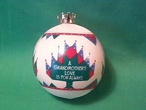 Grandmother Satin Ball 1986 hallmark ornament
