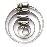 Pack Of 200 Assorted Hose Clamps Jubilee Clip 70Mm - 90Mm Ss Stainless Steel