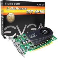 EVGA nVidia GeForce GT 240 512 MB DDR5 VGA/DVI/HDMI PCI-Express Video Card