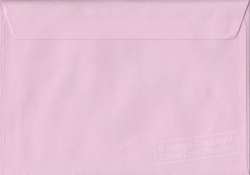 Premier Envelopes Pastel Baby Pink C5 - 162 Mm X 229 Mm 100Gsm Peel And Seal Envelope (Pack Of 100)