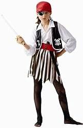 Childs Pirate Girl Halloween Costume (Size: Medium 8-10)