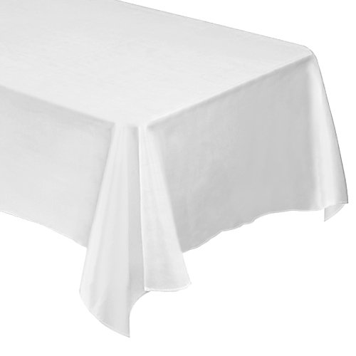 "Premium Polyester Tablecloth - for Wedding, Restaurant or Banquet use - 60"" x 102"" Rectangle, White"