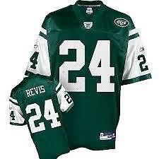New York Jets NFL-Maglietta da Football americano Darrelle Revis, numero 24, da uomo, nuova, senza cartellino *