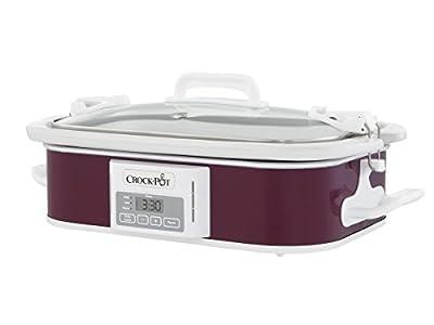 Crockpot SCCPCCP350-CR Programmable Digital Casserole Crock Slow Cooker, 3.5 quart, Plum from Crockpot
