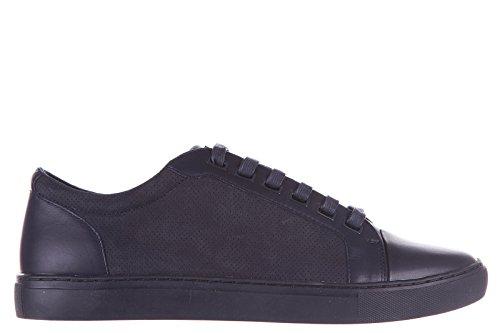 Armani Jeans scarpe sneakers uomo in pelle nuove blu EU 42 C6747 75 35
