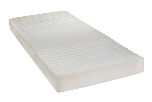"Drive Medical Therapeutic 5 Zone Support Mattress, White, 35"" X 80"" X 5. 5"" front-1011682"