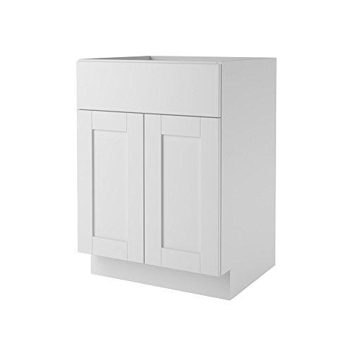 Ameriwood Heartland Cabinetry Shaker  Bath Vanity Cabinet, 24″, White