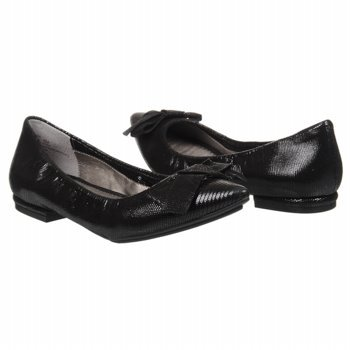 Me Too Paige Womens Size 5 5 Black Flats Animal Print Leather Ballet Flats Shoes