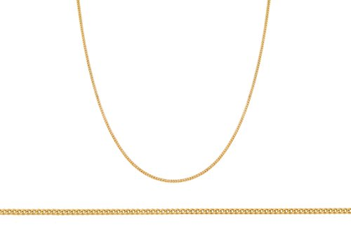 Plain Necklace, 9ct Yellow Gold Chain, 46cm Length,
