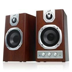 Genius SP-HF1255A - Altavoces (40 W, 48 - 20000 Hz, 85 Db, Madera, 3.5 mm, 5.13 kg)