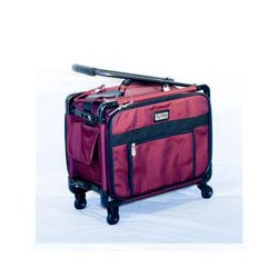 17 Tutto Small Carry-on Luggage On Wheels - Burgundy from tutto