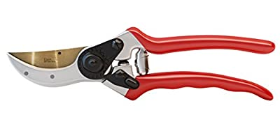 Haus & Garten Pruning Shears - Titanium Bypass Hand Pruner, Trimmer & Garden Tool for Professional & Home Use - Strong, Durable Razor Sharp Blade Make Effortless & Precise Cuts - Ergonomic, Comfortable Handle Grip Ideal for Men & Women - Quality Made Gard