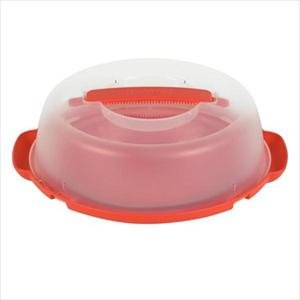 Pyrex Portable Pie Plate Includes Plastic Cover & Base