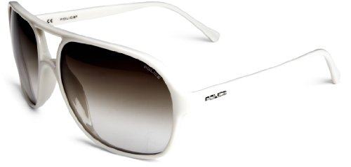 Police Plastic Square Aviator Men's Sunglasses Milk One Size