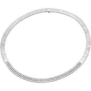 14K White Gold 8 ct. Diamond Necklace - 16''
