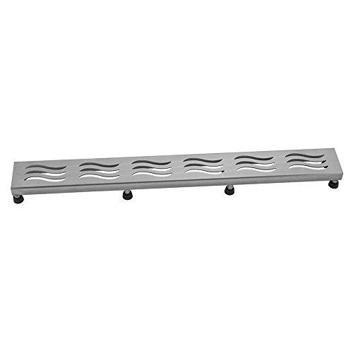 [해외]Jaclo 6216-32-BSS 웨이브 창 살, 32, 닦 았 스테인레스 스틸/Jaclo 6216-32-BSS Wave Grate, 32 , Brushed Stainless Steel