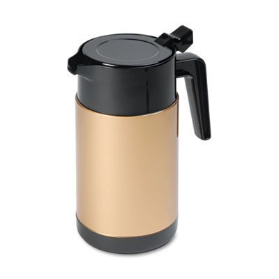 hormel-poly-lined-carafe-wide-mouth-with-snap-off-lid-40-oz-capacity-black-gold-by-hormel