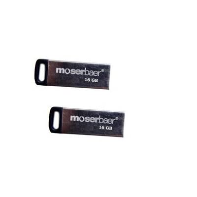Moserbaer Atom 16GB USB Flash Drive - 2 Pcs With OTG Cable - 2 Pcs Only From M.P.Enterprises