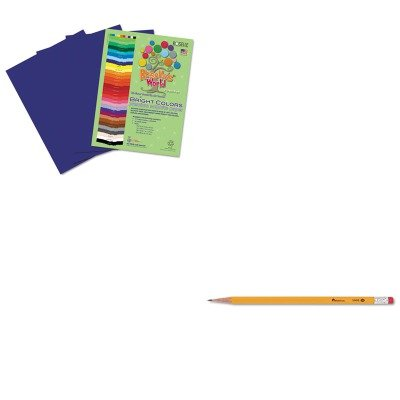 KITRLP74002UNV55400 - Value Kit - Roselle Paper Co Premium Sulphite Construction Paper (RLP74002) and Universal Economy Woodcase Pencil (UNV55400) kitred5l350unv35668 value kit rediform sales book red5l350 and universal standard self stick notes unv35668