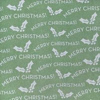 "American Crafts POW Glitter Paper 12""x12""-Merry/Moss - Christmas Holiday Holly 20 Sheet Pack"