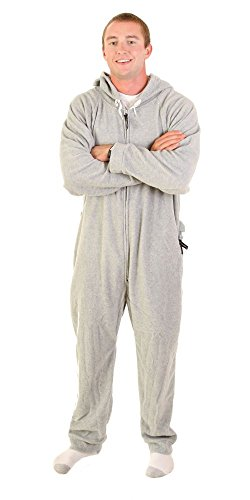 Forever Lazy Adult Onesie - Asleep on the Job Gray - XS
