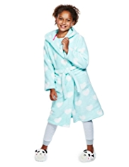 Hooded Heart Print Dressing Gown