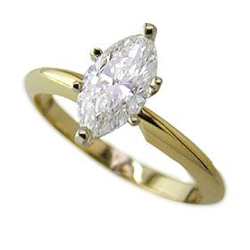 1.21ct marquise diamond solitaire E color VS1 clarity IGI certificate – Size