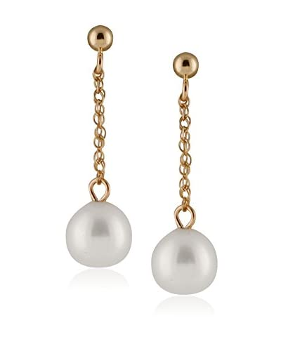 Splendid 7-7.5mm White Freshwater Pearl Drop Earrings