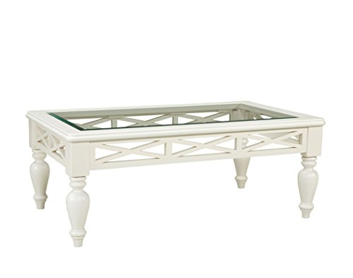 Standard Furniture Cambria Rectangle Coffee Table In White