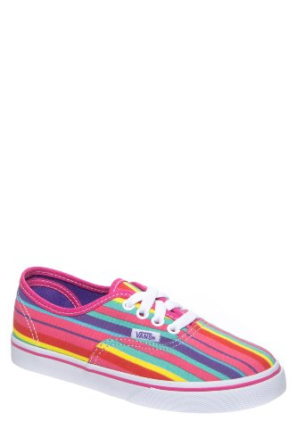 Vans Kids' Authentic Lo Pro Rainbow Stripes Low Top Sneaker