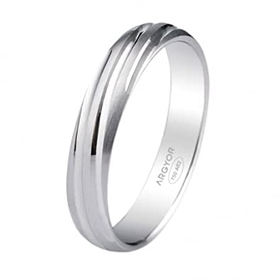 Argyor - 9ct White Gold Wedding Band 4mm