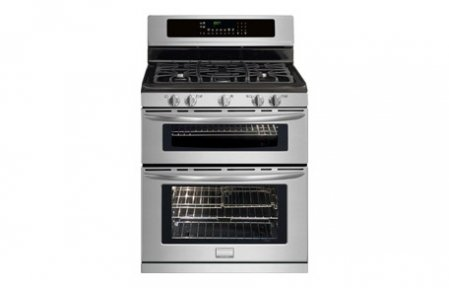 "Frigidaire Fggf304Dlf 30"" Freestanding Gas Double Oven Range With True Convection And Quick Boil, Stainless Steel"