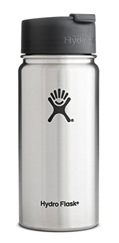 Hydro Flask 20 oz Vacuum Insulated Stainless Steel Water Bottle, Wide Mouth w/Hydro Flip Cap, Stainless (Insulated Coffee Mug 20 Oz compare prices)