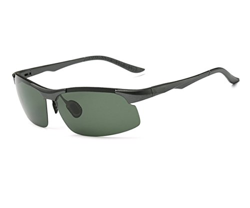Heartisan Polarized Outdoor Semi-rimless Fashion Sport Sunglasses for Men C4