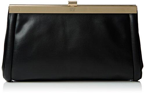 ROBERTO VERINO - Bolso Clutch Aurora, Accessorio da donna, nero (99 negro), Talla única