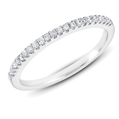 14ct .15 Dwt Diamond White Gold Wedding Band Ring