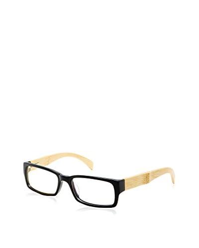 Ivory + Mason Women's Kingsley Eyeglasses, Black/Bamboo